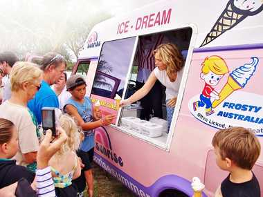 Edwina Bartholomew on her tour of Australia in an ice cream truck.