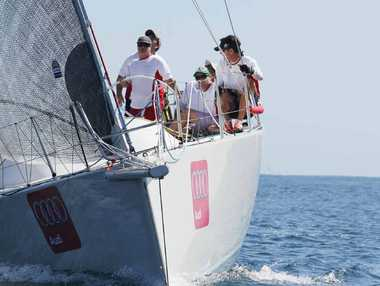 PREPARING FOR HOBART: The crew on board Audi Sunshine Coast. Tracey johnstone