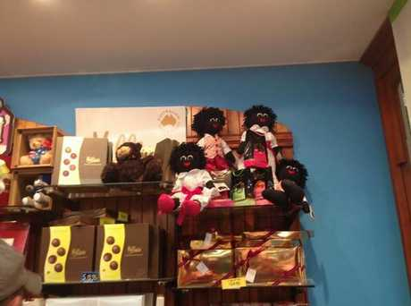 The golliwog dolls at Darrell Lea in Grand Central Shopping Centre.