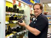 Garrick's Camera House sales manager Brad Barford says the store has a 14-day period after purchase, in which customers can exchange items.