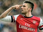 FRENCH striker Olivier Giroud ensured Arsenal finished the year on top of the Premier League for the first time since the 2007-08 season.