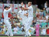 ENGLAND captain Stuart Broad struck the winning runs with five overs to spare to level the three-game one-day series against the West Indies