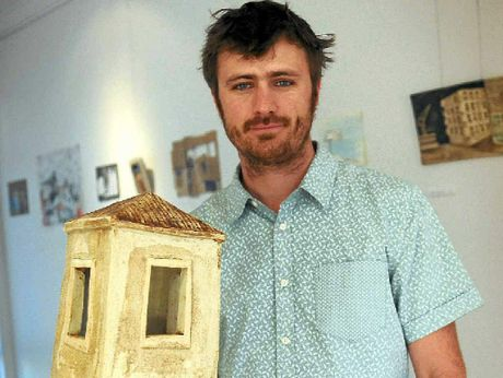 GRAND OPENING: Tim Fry opens his exhibition Habitat at Blockwork Gallery.