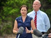 STATE Opposition leader Annastacia Palaszczuk visited Gladstone on Friday to launch a parliamentary petition to stop the possible sale of Gladstone port.