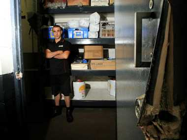 Joe Palermo, pictured at Menniti Seafoods, after a break-in at the store around Christmas 2012.