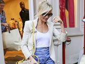 Cameron Diaz has a busy afternoon after shopping at Stella McCartney for 3 hours at the Soho Store.