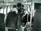 Macklemore performs on bus