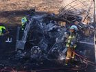 A Toowoomba man was killed in a fiery truck crash near Warwick this morning.
