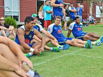 As part of their week long training camp at Coffs Harbour's Novotel Pacific Bay Resort, the Canberra Raiders conducted a free clinic for local kids aged from 5 to 12. Photos: Rob Wright