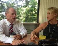 Premier Campbell Newman recently met with Lisa Curry to discuss violence.