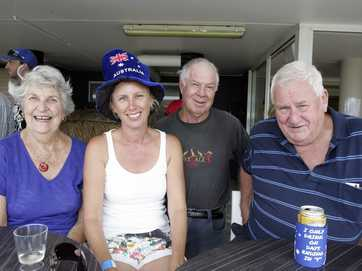 Hazel Shield, Nichola Ward, George Hanson and Roy Mackie at Marcoola Rocks on Australia Day. Photo Mike Garry / Coolum & North Shore News