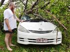 AS AN early birthday present, West Mackay resident Mark Loadsman came home to an uprooted tree on his partner's car.