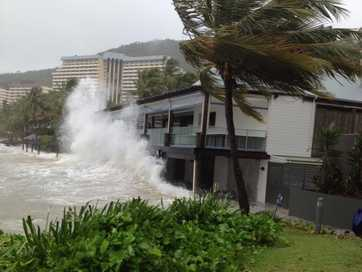 Ex tropical cyclone Dylan whips up wild seas in the Whitsundays.