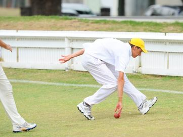 The battle of the river was on again when the representative cricket teams from the Clarence River and Lower Clarence associations played at Ellem Oval on Sunday. Photos: Leigh Jensen / Daily Examiner