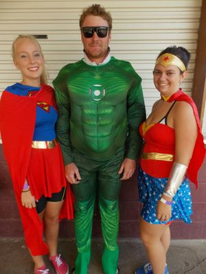 SUPER POWERS: Some participants got into the fun of the event dressing in costume. Photo: Contributed