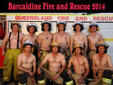 Barcaldine firies stripped off to raise funds for aged care facilities.