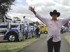 Shirl's a happy fella., at the Koroit Truck Show on the Australia Day long weekend. Photo Graham Harsant / Big Rigs