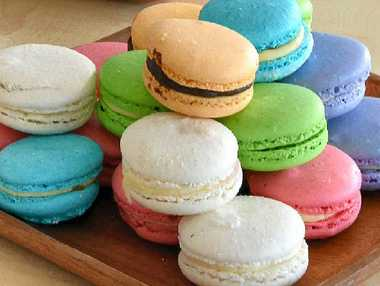 GOOD IDEA: For something different buy handmade macarons.