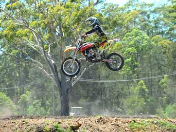 Coffs Harbour Motorcross sign on day.