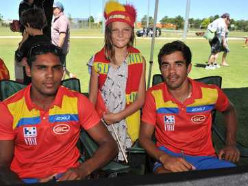 Images from the AFL sign-on day at the Byron Bay sports complex on Ewingsdale Road.