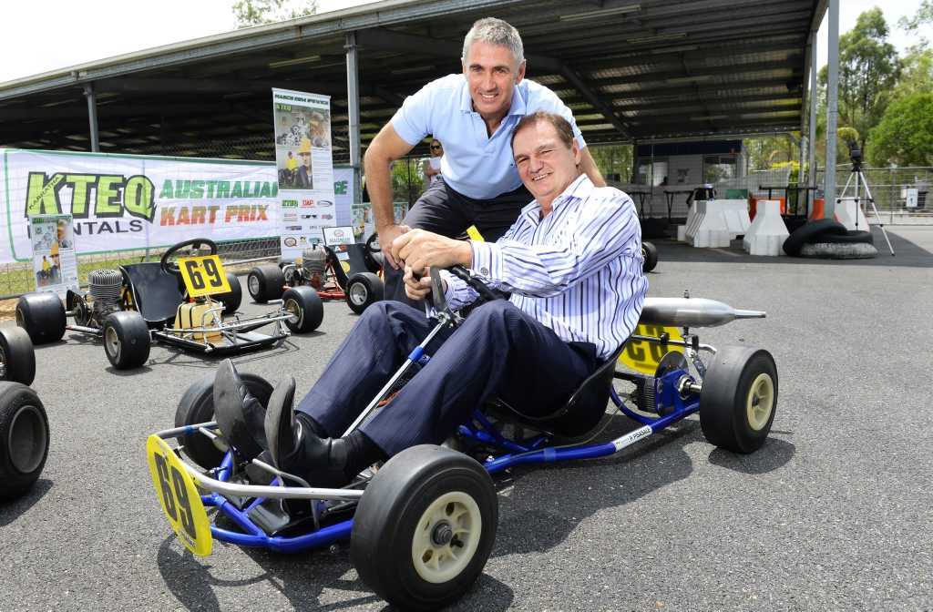 Mick Doohan in Ipswich to launch Australian Vintage Kart Prix