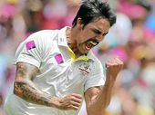 MITCHELL Johnson's breathtaking burst of fast bowling had top-ranked South Africa 140-6 and staggering.