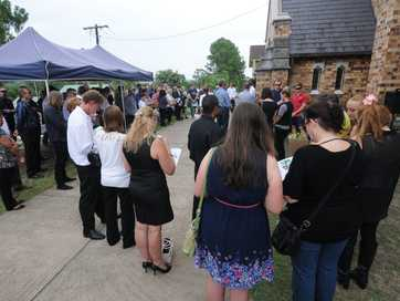 Images from Jake Collins' funeral at St Andrew's Anglican Church at Lismore.