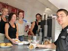 THE iconic Lismore Pie Cart made its delicious debut under new owners Brett and Sharon Restall and Col and Kim Baker yesterday.