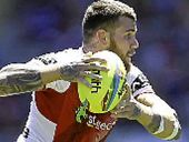 A SICKENING collision with South's George Burgess has left St George Illawarra fullback Josh Dugan with a suspected medial ligament strain.