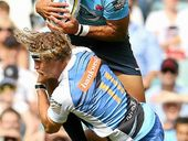 AN Israel Folau hat-trick helped the New South Wales Waratahs secure a bonus point in their 43-21 Super Rugby win over the Western Force yesterday.
