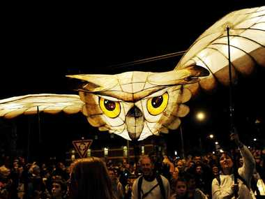 SKY HIGH: The 2013 Lismore Lantern Parade.
