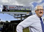 IPSWICH MP Ian Berry has cracked jokes about a giant billboard in Bundamba attacking his attitude to workers and spent time on Friday posing in front of it.