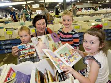 Bookworms hunt for bargains at The Chronicle Lifeline Bookfest.