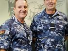 Chief of Air Force, Air Marshal Geoff Brown (left) and Warrant Officer Mark Pentreath in the new Air Force General Purpose Uniform. Picture: Australian Air Force