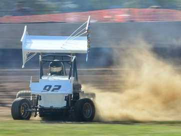 Action from the Rockhampton Speedway meet at the Showgrounds on Saturday evening.   Photos CHRIS ISON