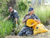 CHAIRS and tyres were among the rubbish a group of Ipswich Naval Cadets pulled out from around the Bundamba Creek.