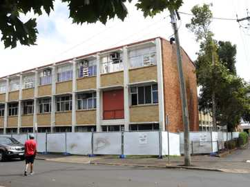 Demolition has started on the old TAFE buildings in Hume Street.