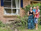 A BEERWAH couple considers themselves lucky to be alive after a car ploughed into their home, stopping centimetres from where they slept.