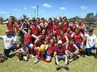 WARWICK Redbacks put on a convincing victory at yesterday's Cardinal Cup final at Reddies Oval.