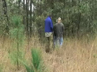 Police walk through site where Cowan said he left body