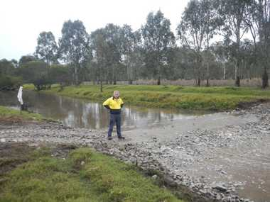 Richmond River County Council project officer Gary Owers pictured at Kookami Swamp near Coraki.