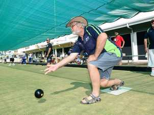 Stan Hickey at the charity bowls day at the North Rockhampton Bowls Club in support of Capricorn Animal Aid. Photo: Chris Ison / The Morning Bulletin