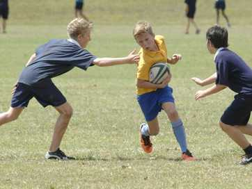 Touch football action at Hepburn Park.