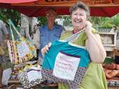 Anni Simmons is doing her bit to reduce the use of plastic bags in our environment Photo Trish Bowman / Capricorn Coast Mirror