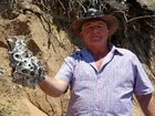 EROSION on Fishermans Beach uncovered a mystery for Emu Park resident Keith Ruskin.