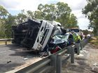 "THE Bruce Highway hasn't changed from the ""highway of horrors"" following a crash where a woman was trapped for over an hour after a truck collided with her car."