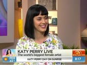 KATY Perry tried her hand at being a weather girl on the Australian news show 'Sunrise'.