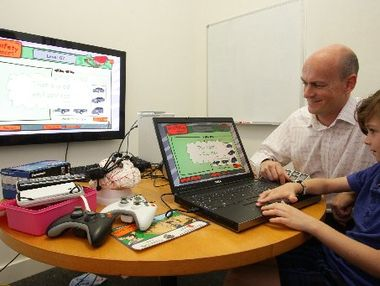 Computer games and learning. Photo: Kari Bourne -Sunshine Coast Daily