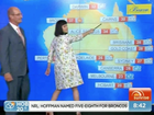 Katy Perry presents the weather on air