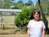 Byron Community Primary School director Emma Wappett near the Byron Bay sportsfields frequented by 'vanpackers'.